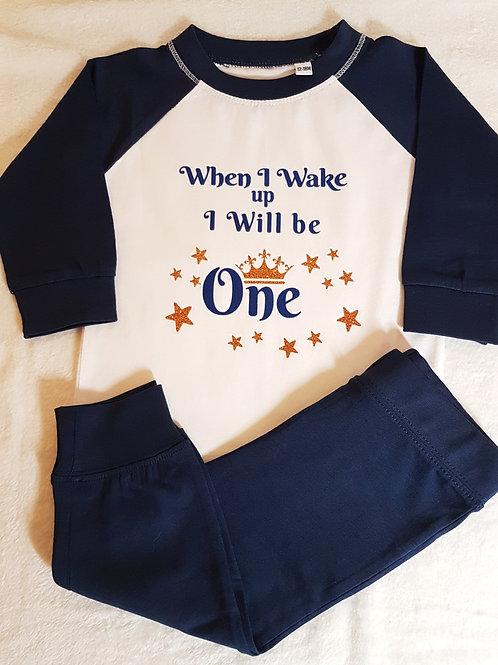 Blue & White Pyjamas