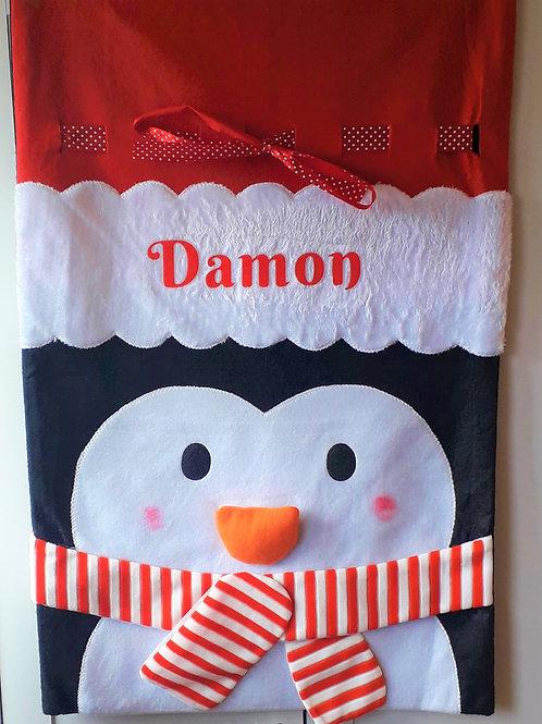 Penguin Christmas Sack