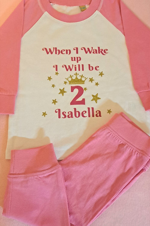 Pink & White Pyjamas (12-18 mths only)