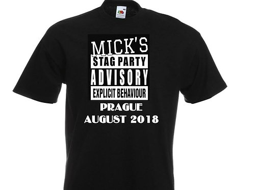 Stag Party Advisory T-Shirt
