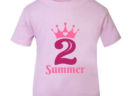 Baby Pink Birthday T-Shirt