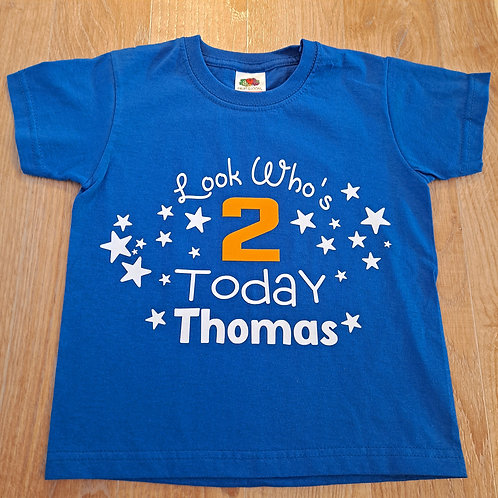 Look Who's 2 Today T-Shirt