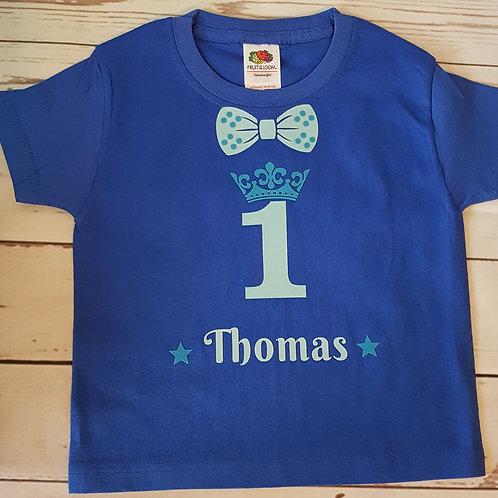 Royal Blue Birthday T-Shirt