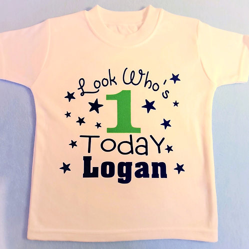 Look Who's 1 Today T-Shirt