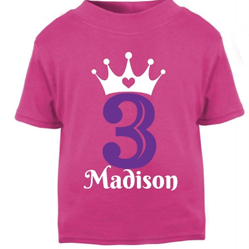Hot Pink Birthday T-Shirt