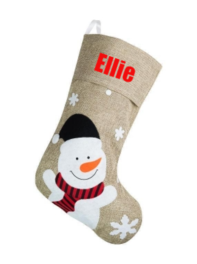 Deluxe Snowman Stocking