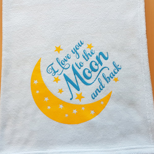 I Love You To The Moon And Back Blanket