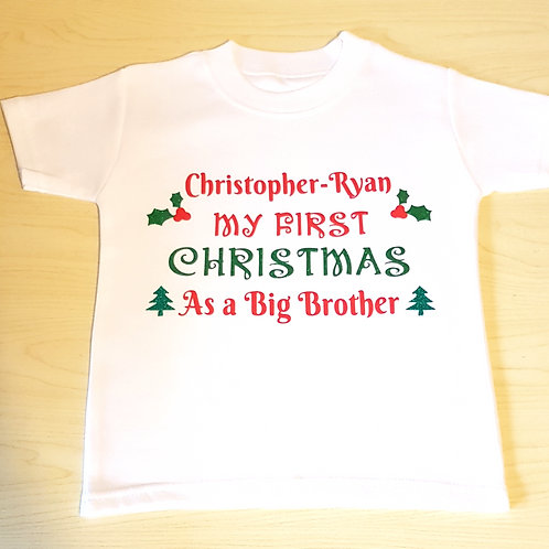 My First Christmas As A Big Brother T-Shirt