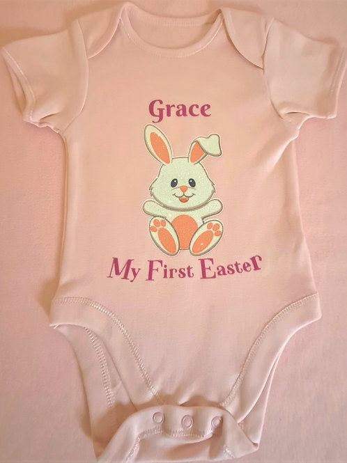 My First Easter Pink Vest