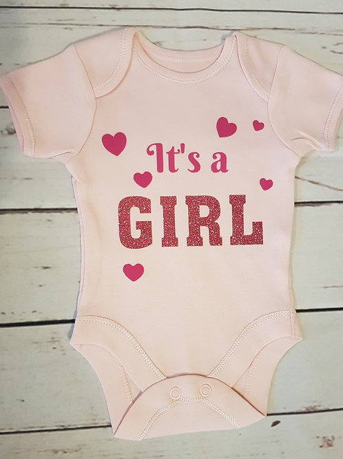 It's A Girl - Baby Reveal Vest