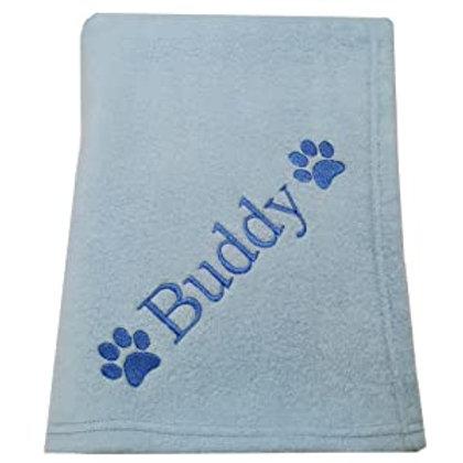 Personalised Blue Pet Blanket