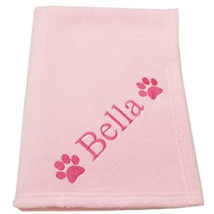 Personalised Pink Pet Blanket