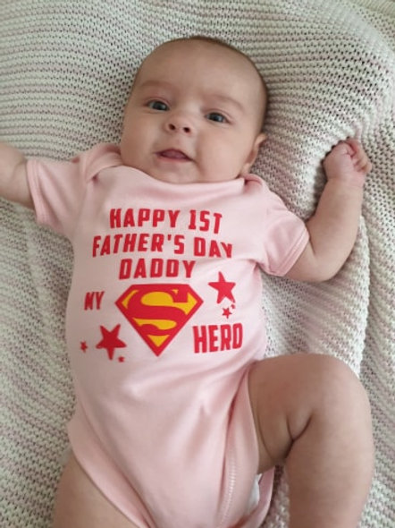 Happy 1st Fathers Day Daddy My Super Hero