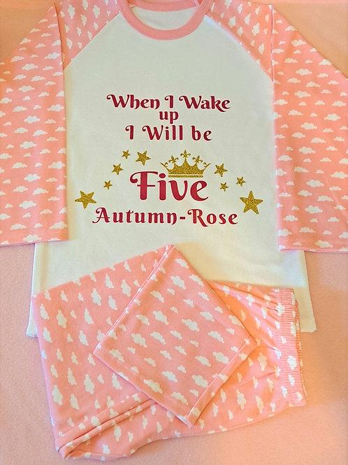 When I Wake Up Pink Cloud Pyjamas (6 mths - 6 years)