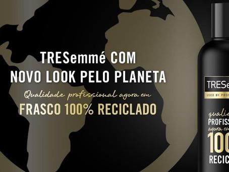 TRESemmé lança edição especial para celebrar nova embalagem 100% reciclada e reciclável