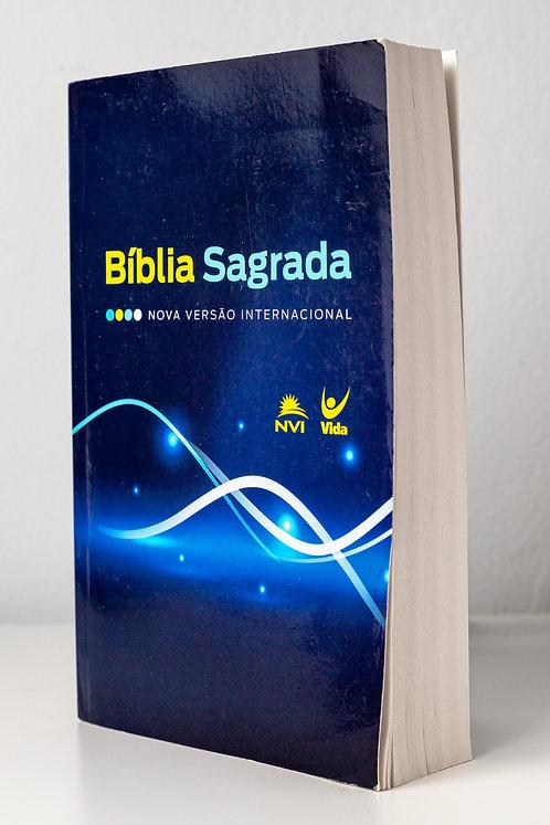 Bíblia Sagrada - NVI Azul/Linhas Brancas