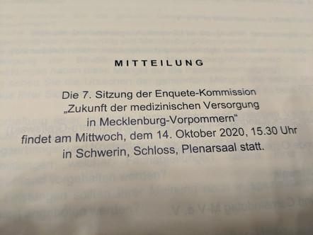 """Enquete-Kommission """"Zukunft der medizinischen Versorgung in Mecklenburg-Vorpommern"""""""