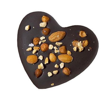 TABLETTE COEUR Croquant-Chocolat Noir 60 gr