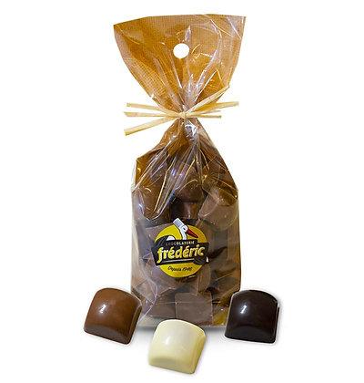 CUBES Fourrés-Chocolats au choix-Sachet Confiseur 200 Gr
