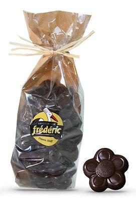 FLEURS-Chocolat Noir plein-Sachet confiseur 200g