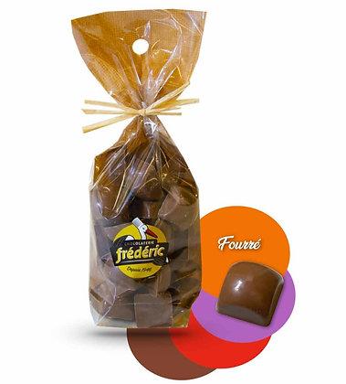 CUBES-Chocolat au Lait-Fourrés-Sachet Confiseur 200 gr