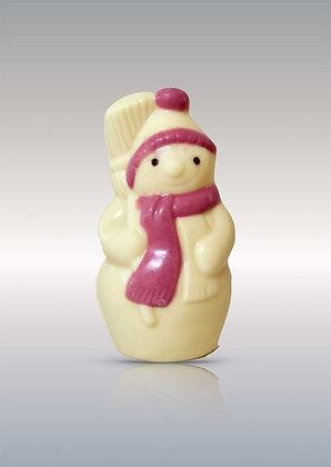 BONHOMME DE NEIGE décoré-Chocolat blanc-55gr