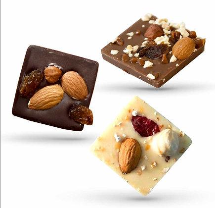 CARRES CROQUANTS-3 Chocolats-Sachet Vrac 500 gr
