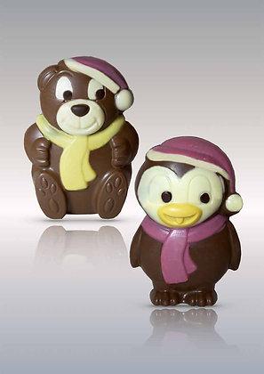 LES DEUX AMIS DE LA BANQUISE décoré-Chocolat Lait 250 gr