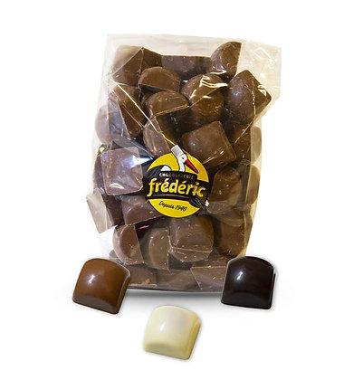 CUBES Fourrés - Chocolats au choix - Sachet Vrac 500 Gr