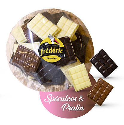 COUPELLE MINI TABLETTES-3 Chocolats-Fourrés