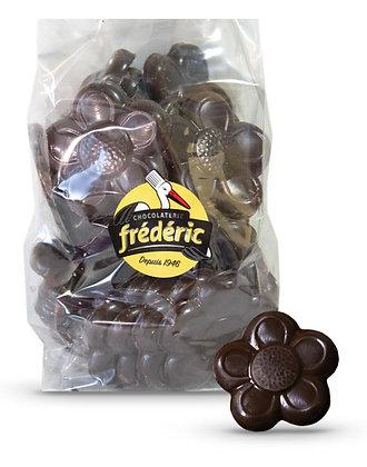 FLEURS-Chocolat Noir plein-Sachet Vrac 500 gr