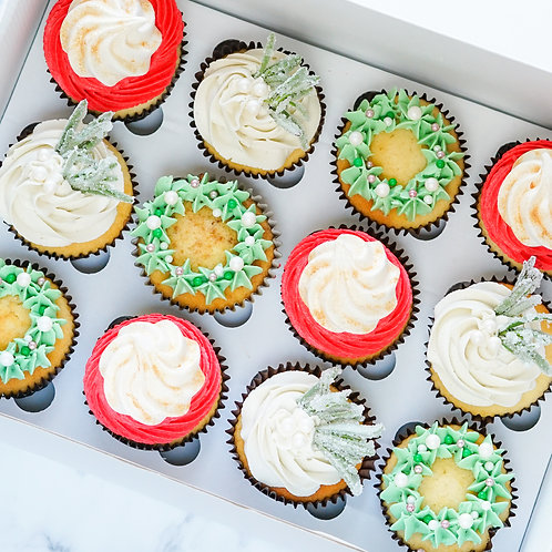 Deluxe Christmas Cupcakes