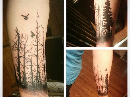 A Forest Tattoo & Clear, Colored Stones - Two Different Devotions From Two VERY Different Siblin