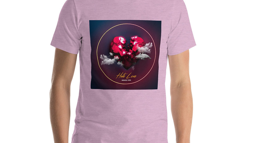 (HATE LOVE) Short-Sleeve Unisex T-Shirt