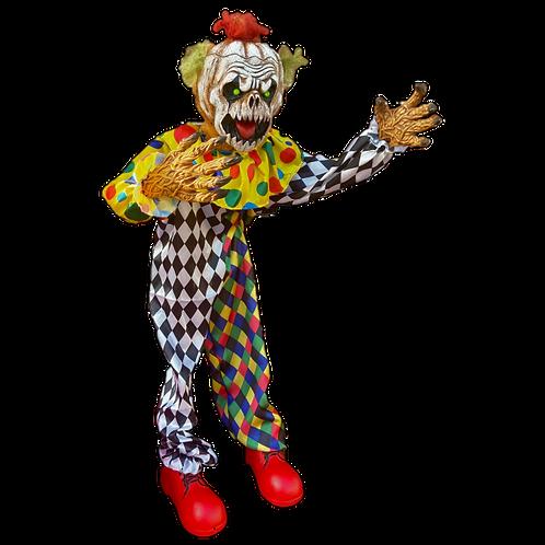 Animated 4.5ft Life-Size Kooky Clown