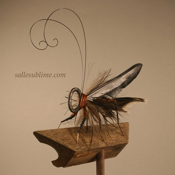 Antique skeleton key insects, flying keys sculpture