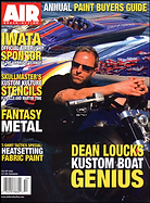 Dean Loucks on cover of Air Brush Action Magazine