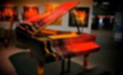 Sauter Piano painted by Dean Loucks