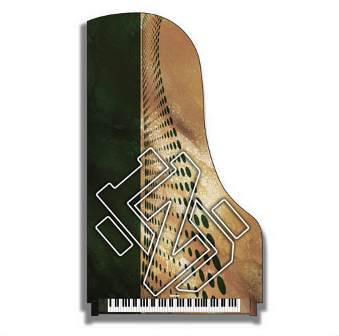Abstract Custom Piano