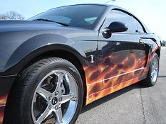 Car custom painted by Dean Loucks and TAOD