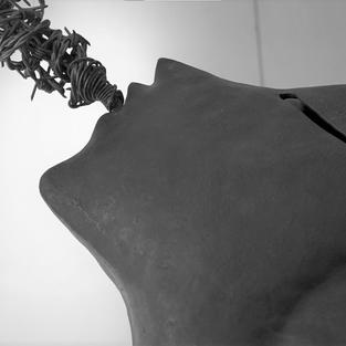 Non solo il pensiero 1997  Lamiera in ferro battuto a cassetta