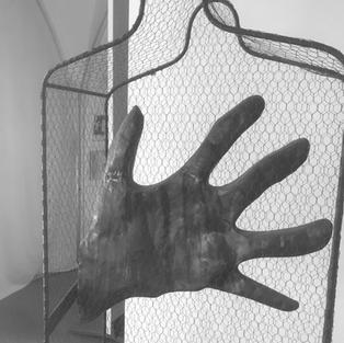 Senza Titolo 1997  Rame, tondino di ferro e rete metallica