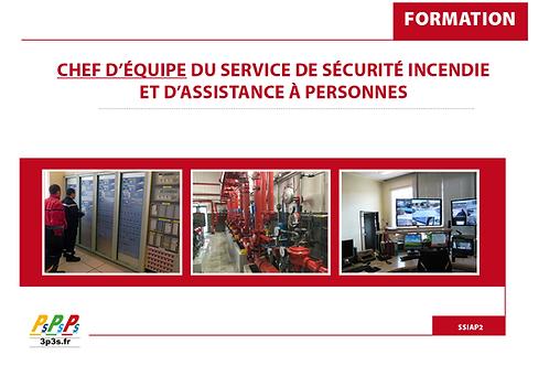 Bloc SSIAP2 (Chef d'équipe du service de sécurité incendie et d'assistance à p