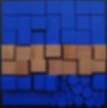 Relief bleu cobalt et cedre RG51 100x100