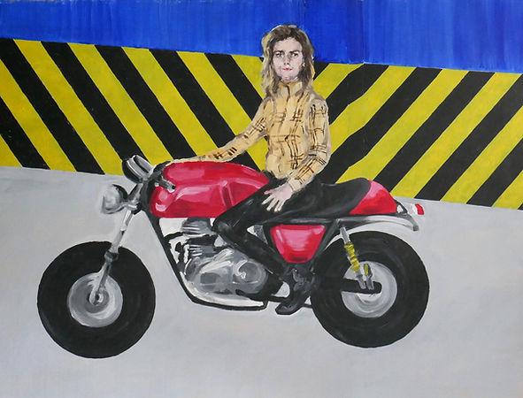 Espace Meyer Zafra, Marine Provost, Autoportrait à la moto