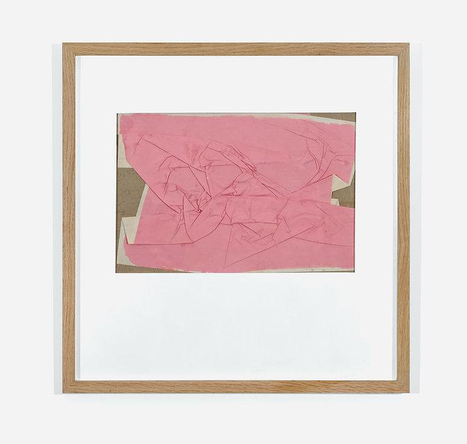 Manuel Mérida, Papier froissé rose, 1977