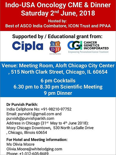 Indo-USA Oncology Dinner 2018