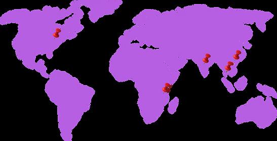 World Footprint of Kavina Creations