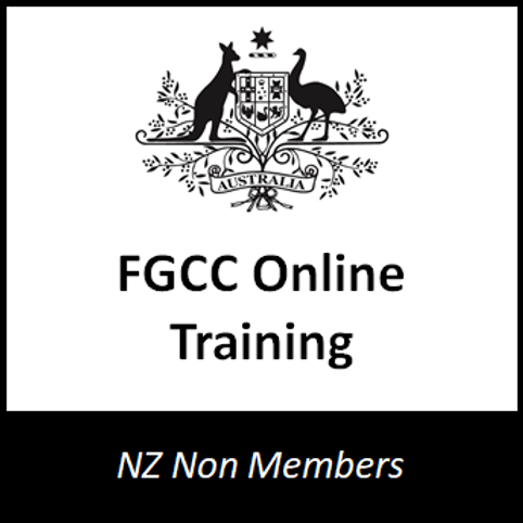 NZ Only - FGCC Online Training - Non NZFGC Members