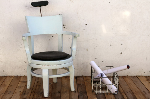 Antique wooden barber chair - Antique Wooden Barber Chair Arteria Industrial Furniture And